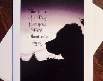 The Love of a Dog. Photo Greeting/Note Card. Blank Inside.