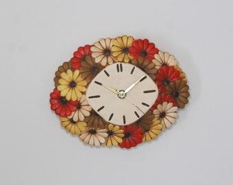Vintage retro wall clock - Atlantic mold ceramic wall clock - electricwall clock
