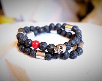 human skull bracelet