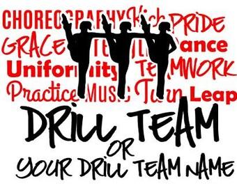 Drill Team Dance Team Custom Vinyl Car Window Decal Sticker