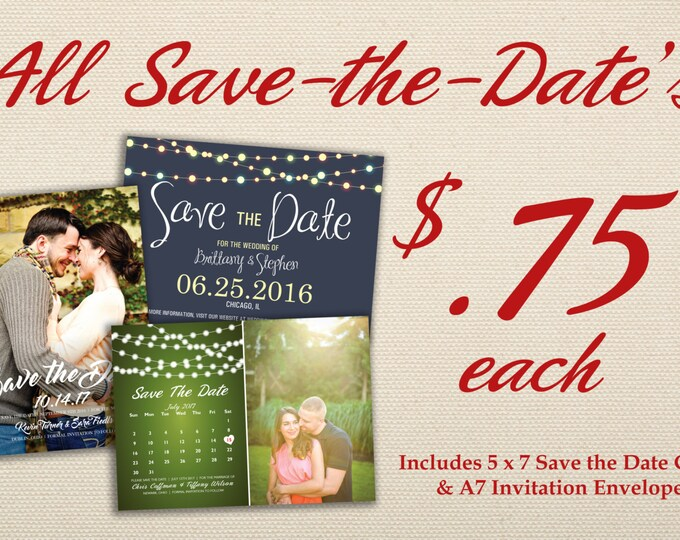 Save the Date Cards, Photo Card, Calendar, Save the Date Postcard, Announcement, Customizable, Cheap, Affordable, Save the Date Calendar