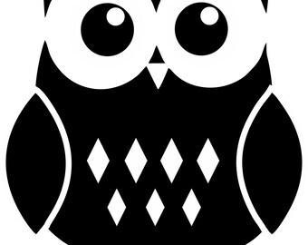 Owl Stickers Car Truck Decal Cute Window Wall Laptop Skateboard New Vinyl