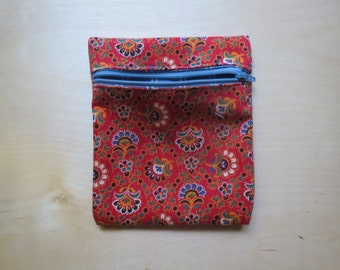 Red Patterned Coin Purse