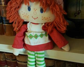 Vintage 1980's Strawberry Shortcake Ragdoll/ collectable/doll/toy/retro