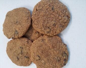 Two Dozen Handmade Oatmeal & Raisin Cookies
