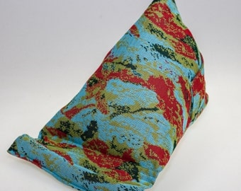 Blue Abstract Fabric  (Large) Tablet - Kindle - Ipad - Mobile  Stand