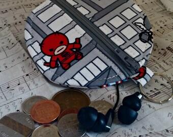 Marvel Kawaii Earbuds Holder - Superhero Coin Purse - Marvel Zippered Pouch - OOAK - Custom Made