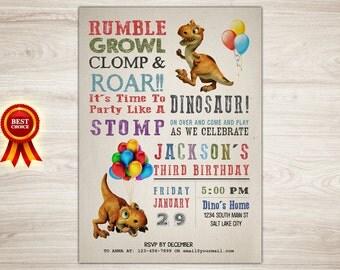 Dinosaur Birthday Invitation, Dinosaur Invitation, Dinosaur Birthday, Dinosaur Printable Invitation, Dinosaur Invite, Dinosaur Party