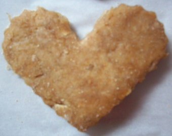 Grain-Free All-Natural Peanut Butter and Banana Heart Shaped Dog Treats 8 oz.