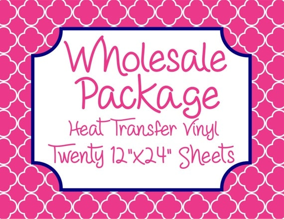 "Wholesale Package for Twenty 12""x 24"" Heat Transfer Vinyl Sheets // Beautiful, Vibrant Patterns"