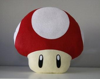 Super Mario power-up Mushroom Pillow handmade kawaii