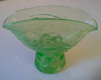 Pretty green fan vase