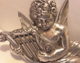 Silver tone metal angel