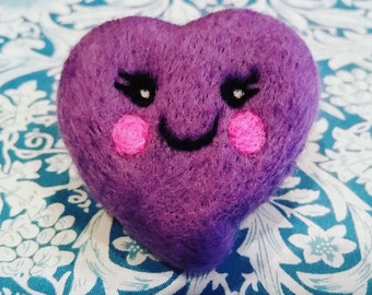 Kawaii needle felt love heart