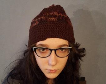 Brown Crochet Hat