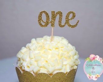 First birthday cupcake toppers || number cupcake toppers || one cupcake topper