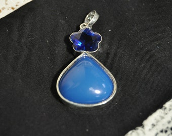 Blue Necklace Charm