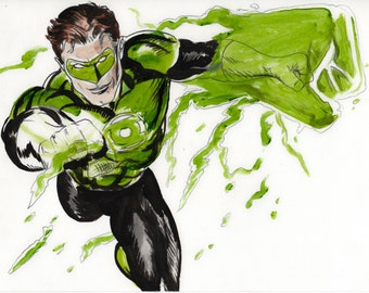 green lantern dc comic super hero hal jordan