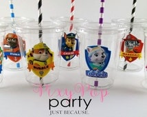 Paw Patrol Birthday Party Drink Cups, Paw Patrol Party Favors and Party Supplies (7pc)