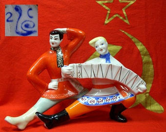 Dancers Porcelain Figurine Soviet Russian Polonsky ZHK USSR ORIGINAL lastcentury
