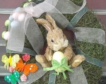Cute Easter bunny wreath