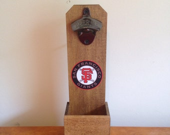 Wall Mounted Bottle Opener - San Fransisco Giants