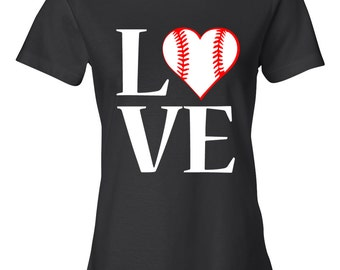 LOVE Baseball T-Shirt, Women's Shirt