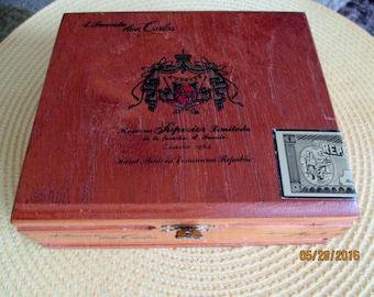 Wooden A. Fuente Cigar Box Arturo Fuente Cigar Box Wooden Keepsake Box Treasure Box