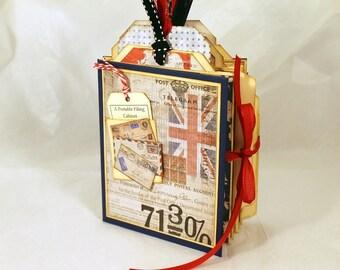 """Mini File Folder """"Portable Filing Cabinet"""" - Int'l Postal Theme"""