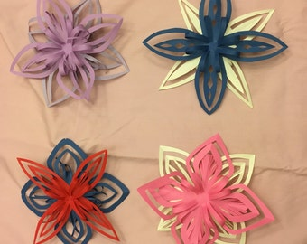 Paper Flower Decorations (Set of 6)