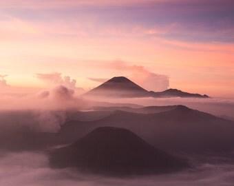 Mount Bromo at Sunrise landscape photography print