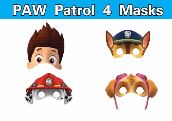 It's just a graphic of Astounding Paw Patrol Printable Masks