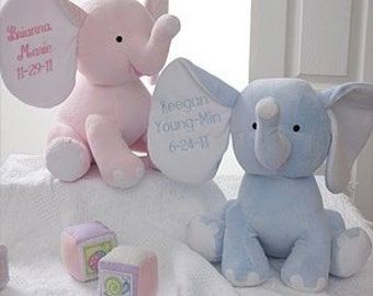 Blue Elephant-Baby Anniucement-Personalized