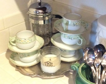 Set of 5 Tea Cups and Saucers