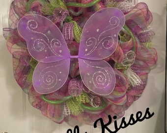 Butterfly Kisses Wreath