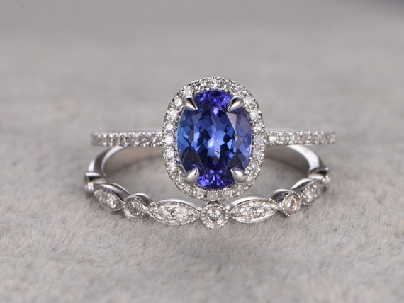 tanzanite wedding ring setengagement ringdiamond. Black Bedroom Furniture Sets. Home Design Ideas