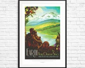 NASA Earth Poster, NASA Travel Posters, Nasa Exoplanet Posters, Nasa Exploration Posters, earth art, space exploration, solar system posters