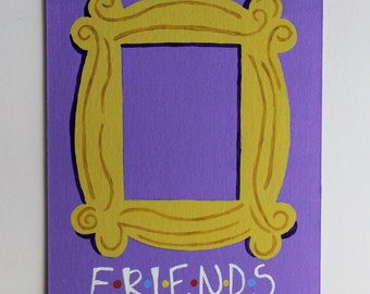 Friends TV Show Door Frame Monicau0027s Apartment Handmade Acrylic Painting on 8x10 Canvas Board - Frame & Friends Frame Friends TV Show Monicau0027s Apartment Door pezcame.com