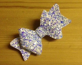 Small glitter hair bows