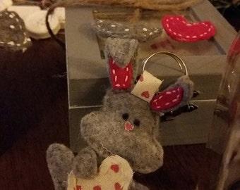 Stuffed Bunny keychain.