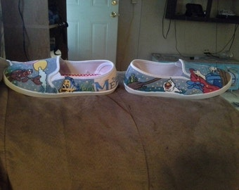 Hand Painted Little Mermaid shoes