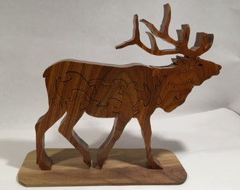 Wooden Elk Jigsaw Puzzle