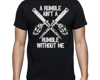 The Outsiders Dallas Rumble T Shirt Rockabilly Greaser