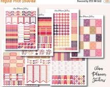 50% OFF - SALE Mega Monthly Floral Printable Planner Stickers, Erin Condren Planner Stickers, Monthly Planner Stickers, Colorful Stickers