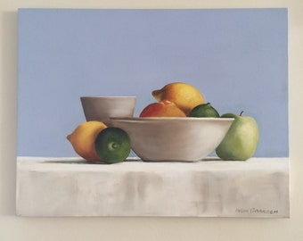 Lemons and limes oil painting