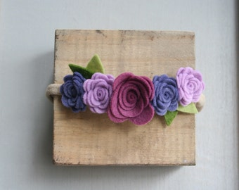 Felt Flower Crown-Purple