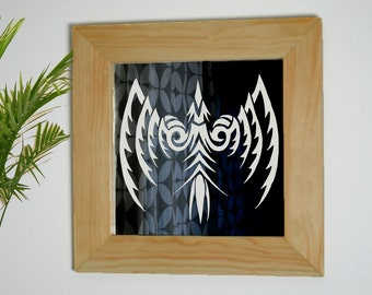 Phoenix Mirror, Phoenix Bird Mirror, Phoenix Gift, Rebirth Mirror, Decorative Mirror, Tribal Sign, Phoenix, Laser Etched Mirror
