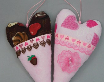 "Hearts ""pink tenderness"" and ""chocolate Goodies"""