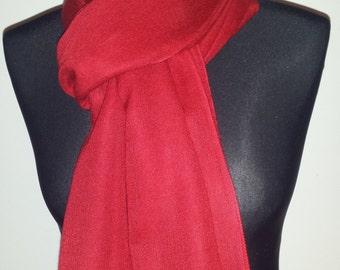 Pashmina Cashmere Silk Stole Red
