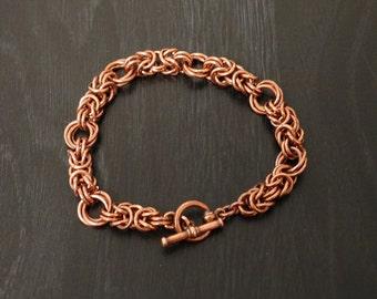 Byzantine Rose Chain Bracelet